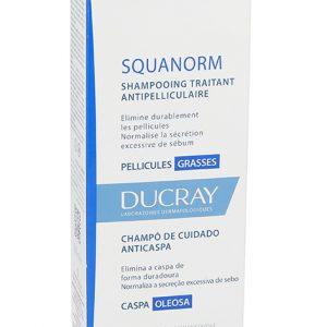Sampon tratament anti-matreata grasa Squanorm, 200 ml, Ducray