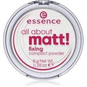Essence All About Matt! pudră transparentă compactă