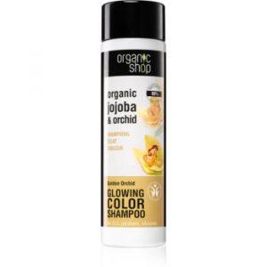 Organic Shop Organic Jojoba & Orchid sampon pentru netezire pentru a evidentia culoarea parului