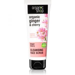 Organic Shop Organic Ginger & Cherry demachiant cu efect de peenling