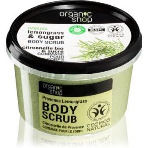 Organic Shop Organic Lemongrass & Sugar crema delicata pentru exfoliere pentru corp