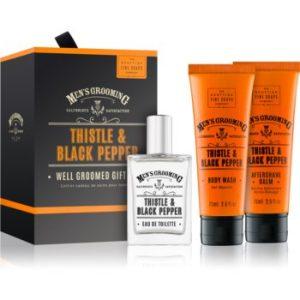 Scottish Fine Soaps Men's Grooming Thistle & Black Pepper set cadou IV. (pentru barbati) pentru bărbați