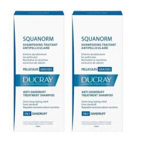 Pachet Sampon pentru matreata grasa Squanorm 200ml 1 + 70% reducere de 50% la al doilea, Ducray