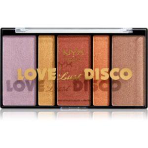 NYX Professional Makeup Love Lust Disco Highlight paletă de iluminatoare