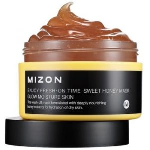 Mizon Enjoy Fresh-On Time mască hidratantă iluminatoare, cu miere pentru tenul uscat