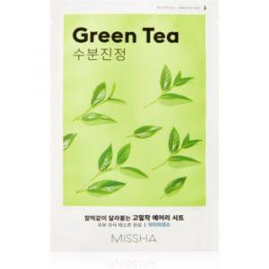 Missha Airy Fit Green Tea mască textilă calmantă cu efect de hidratare