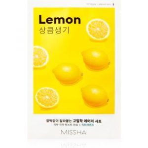 Missha Airy Fit Lemon Mască de iluminare și revitalizare