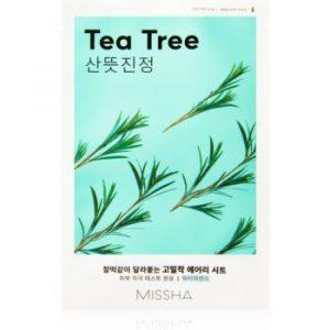 Missha Airy Fit Tea Tree masca de celule cu efect de curatare si reimprospatare pentru piele sensibilă
