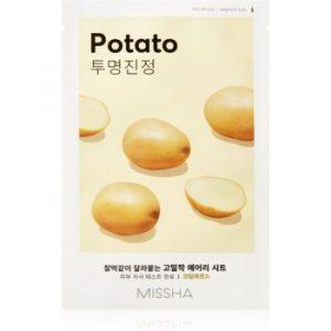 Missha Airy Fit Potato mască textilă pentru netezire pentru o piele mai luminoasa