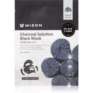 Mizon Charcoal Solution mască textilă purificatoare, cu cărbune activ