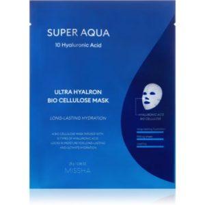 Missha Super Aqua 10 Hyaluronic Acid masca de celule cu efect hidrantant si hranitor