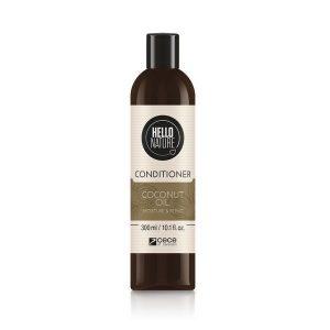 Balsam BIO Hello Nature cu ulei de COCOS pentru hidratarea, restructurarea si intarirea firului de par degradat si deteriorat. 300 ml Cod 1571 .