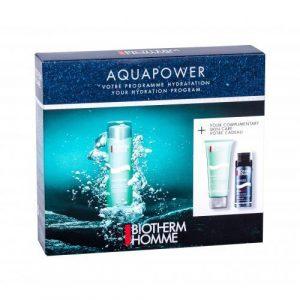 Biotherm Homme Aquapower Oligo Thermal Care set cadou Crema de zi 75 ml + Spuma de ras 50 ml + Gel de dus Aquapower 75 ml pentru bărbați