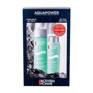 Biotherm Homme Aquapower set cadou Aquapower Oligo-Thermal Loțiune răcoritoare 200 ml + Aquapower Oligo-Thermal Care 75 ml gel pentru bărbați