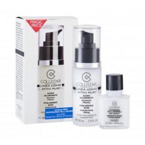Collistar Linea Uomo Attivi Puri Hyaluronic Acid set cadou ser pentru ten 30 ml + balsam aftershave 15 ml pentru bărbați