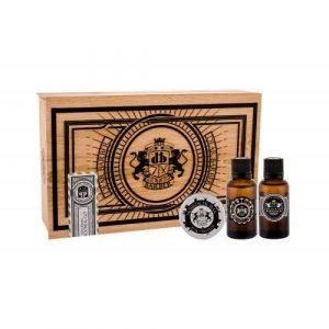 DEAR BARBER Beard Oil set cadou Ulei de barba 30 ml + Ceara de mustata Moustache Wax 25 ml + EDT With Confidence 30 ml pentru bărbați
