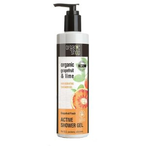Gel de Dus Bio cu Lime si Grapefruit Grapefruit Punch Organic Shop, 280ml