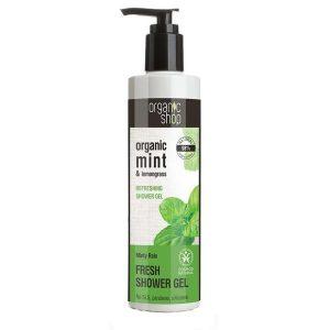 Gel de Dus Bio cu Menta si Lemongrass Minty Rain Organic Shop, 280ml