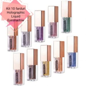 Cupio Kit 10 Farduri de ochi Holographic Liquid Eyeshadow