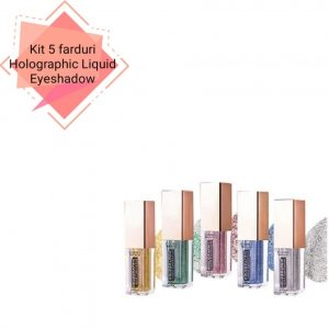 Cupio Kit 5 Farduri de ochi Holographic Liquid Eyeshadow