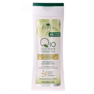 Lapte demachiant revitalizant Q10 si ceai verde Cosmetic Plant