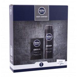 Nivea Men Deep Comfort set cadou Lotiune dupa barbierit 100 ml + Spuma de barbierit Smooth Shave 200 ml pentru bărbați