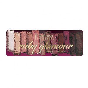 Paleta de farduri Eveline Cosmetics Ruby Glamour