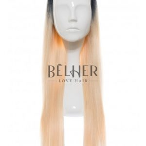 Peruca Partiala 3/4 Ombre Blond Alb