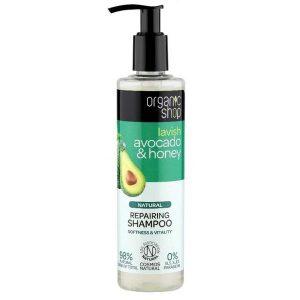 Sampon Bio Reparator cu Avocado & Miere Organic Shop, 280ml