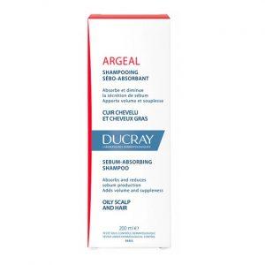 Sampon crema sebo-absorbant pentru par gras Argeal, Ducray