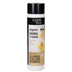Sampon pentru Protectia Culorii cu Orhidee si Jojoba Golden Orchid Organic Shop, 280ml