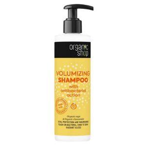Sampon pentru Volum cu Efect Antibacterian, Salvie si Musetel Organic Shop, 280 ml
