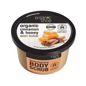 Scrub de Corp cu Miere si Scortisoara Honey Cinnamon Organic Shop, 250ml