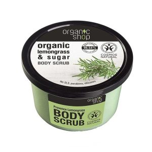 Scrub de Corp cu Zahar si Lemongrass Provence Lemongrass Organic Shop, 250ml