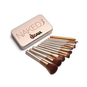 Set 12 pensule profesionale pentru machiaj Naked