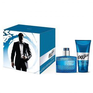 Set James Bond 007 Ocean Royale pentru Barbati - Apa de Toaleta 30ml, Gel de Dus 50ml