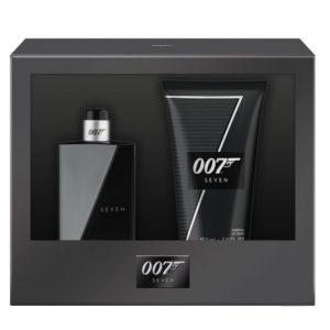 Set James Bond 007 Seven pentru Barbati - Apa de Toaleta 30ml, Gel de Dus 50ml