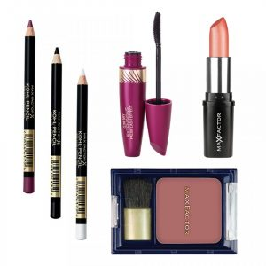Set Max Factor Seduction Ruj Colour Collections, Blush Flawless Perfection, Mascara pentru alungire, 3 x Creion dermatograf