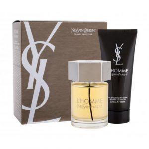 Yves Saint Laurent L'Homme set cadou apa de toaleta 100 ml + gel de dus 100 ml pentru bărbați